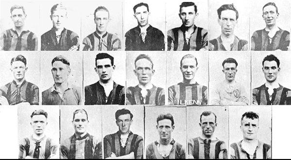 Back Row: Jimmy Walsh (Capt), Mattie Power, Jack (Sag) Carroll, Peter O�Reilly, Lory Meagher, Jim Dermody, Podge Byrne.<br />