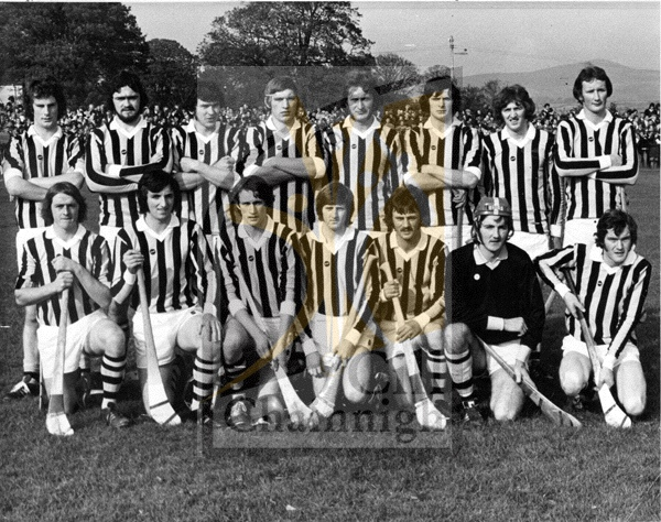 Back: John Marnell, Dick O'Hara, Ger Henderson, Jim Moran, Mick Tierney, Billy Fitzpatrick, Ger Fennelly, Brian Cody. <br /> Front: Joe Hennessy, John Lyng, James Grace, John Dowling, Terry Brennan, Kevin Fennelly (Capt.), Bobby Sweeney.