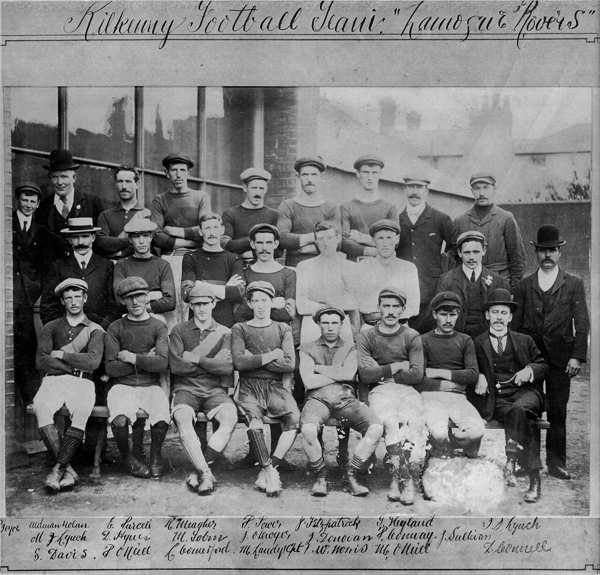 Kilkenny SF team (Lamogue Rovers) which reached Leinster Final 1903. The full Panel was :<br />