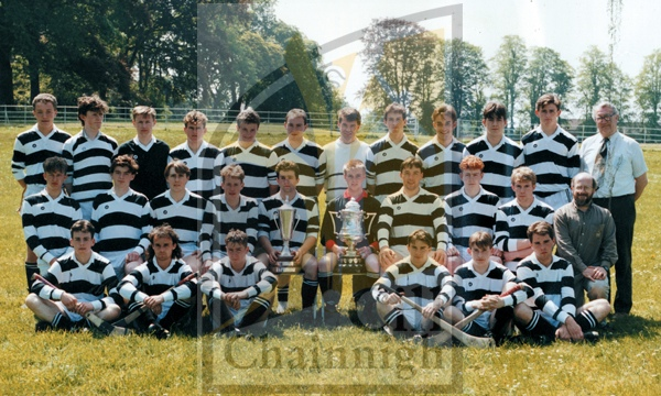 Back: Ciar&#225;n Muldowney, Alan Forde, Sean Foley, Kyran Vaughan, Michael Fitzgerald, Chris Foley, Mr Tom Hogan (selector), Lorcan Carroll, Liam Smith, Justin Hanrahan, Damien Hurley, Mr. Art Anglin (selector).<br />