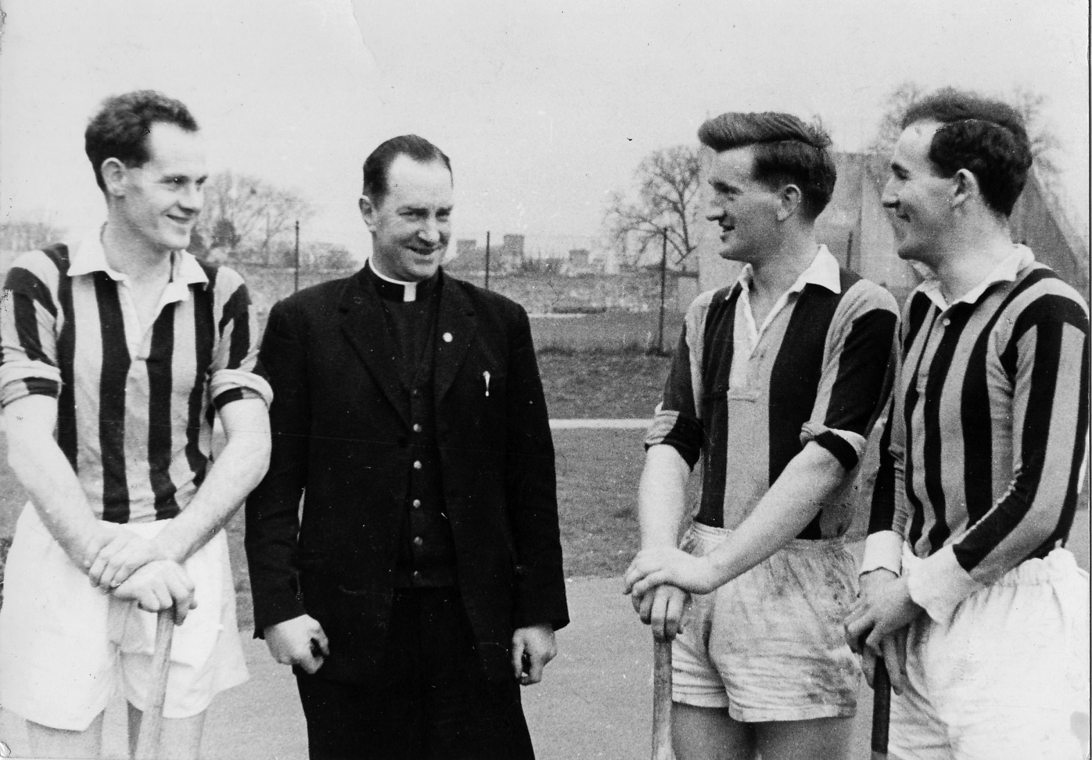Ted Carroll, Billy Murphy and Eddie Keher with Fr Tommy Maher 1960s