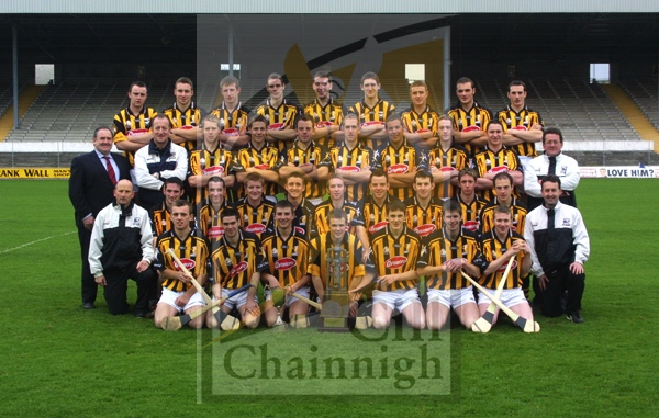Back: Padraig Holden, Mark Heffernan,John Tennyson, Seaghan O� Neill, P.J. Delaney, Eddie Campion, Stephen Maher, Shane Hennessy, Willie O� Dwyer. Absent Robbie Dowling.<br /> 3rd Row: Ned Quinn (Co. Board Chairman) Michael Dempsey (Trainer) Anthony Owens, John Murphy, JohnPhelan, Pat Robinson, Peter Cleere, Colin Dunne, Ciar&#225;n Hoyne, Tom Doheny (Selector)<br /> 2nd Row:  Martin Fogarty (Manager) Brian Dowling, Eoin Larkin, Richie Power, David Herrity, James Fitzpatrick (Capt.) Conor Phelan, Keith Nolan, Michael Fennelly, Martin Phelan, Richard Mulrooney (Selector)<br /> Front:  Niall Moran, Tom&#225;s Frisbey, James Maher, Tommy Walsh, Eoin Reid, Michael Rice, Niall Doherty.
