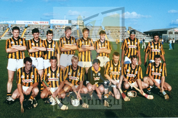 Back: Sean Meally, Sean Ryan, Ollie O�Connor, Eamon Kennedy, Austin Cleere, Pat Hogan, Billy O�Keeffe, Patrick Farrell.<br />