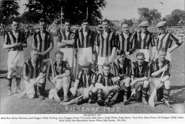 Kilkenny Senior Hurling Team 1937 beaten by Tipp in Killarney.