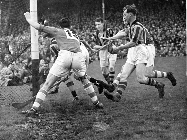 Goalmouth Action from the 1946 All Ireland Final in which Cork beat Kilkenny by 7-5 to 3-8