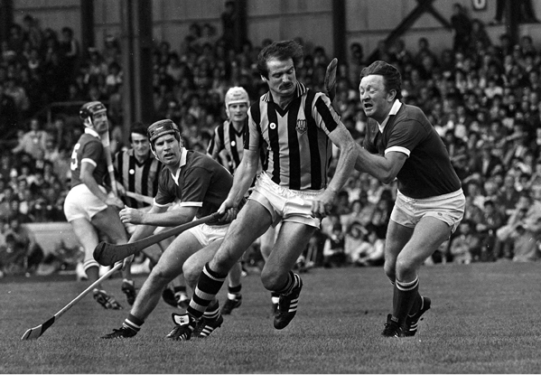 2 September 1983; Kilkenny's Billy Fitzpatrick in action against Cork's John Crowley. Kilkenny v Cork, All-Ireland Hurling Final, Croke Park. Picture credit; Ray McManus/SPORTSFILE
