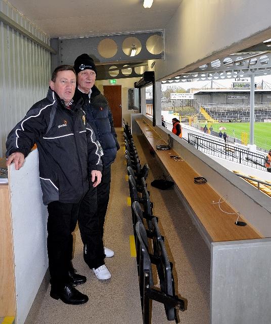 Co Board Vice Chairman Conor Denieffe and Supporters Club Secretary Jim Freeman pictured in new Press Box