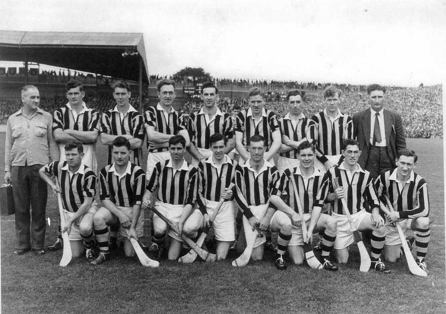 The Kilkenny 1957 All Ireland Winning Team With Tom Pictured In Front Row 2nd From Right