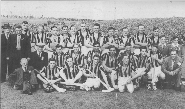 Back Row: Tom Walsh (Chairman Co. Board), Nick O&#039;Donnell, Tommy Murphy, Shem Downey, Jack Mulcahy, Jim Langton, Ned Kavanagh, Terry Leahy, Tom Walton, Jimmy Heffernan, Jimmy Kelly, Bill Walsh. <br />