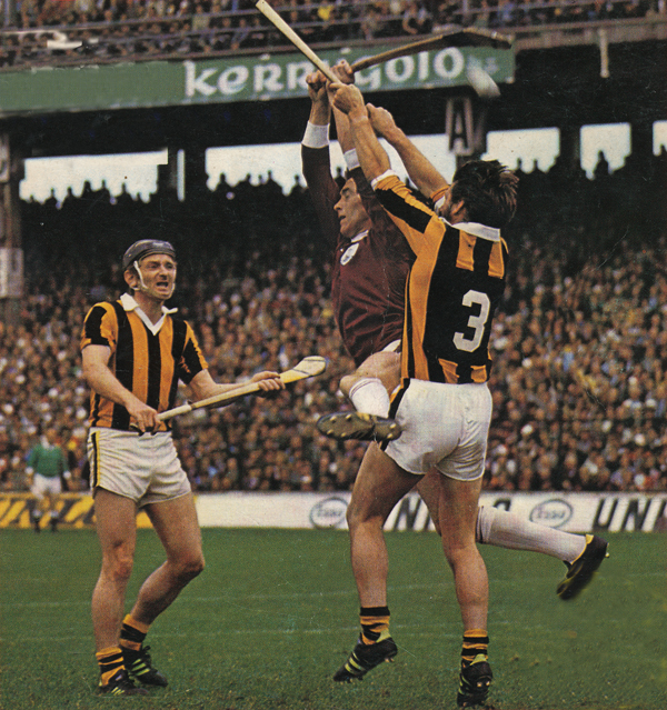 Pat Henderson, Sean Connolly and Nicky Orr in the 1975 All Ireland SH Final