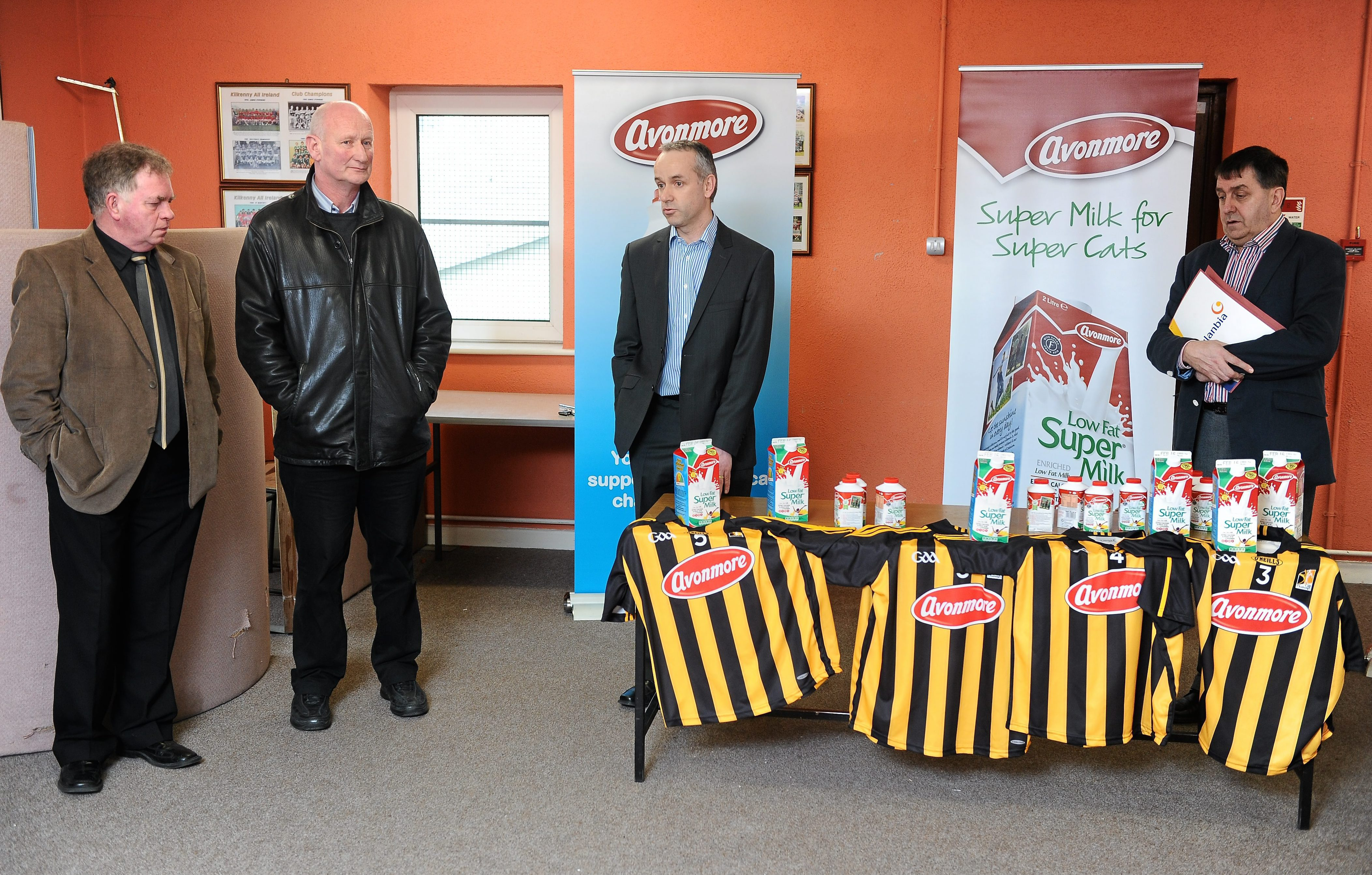 "Glanbia launch its ""Avonmore Milk"" sponsorship of Kilkenny Hurlers for 2011"