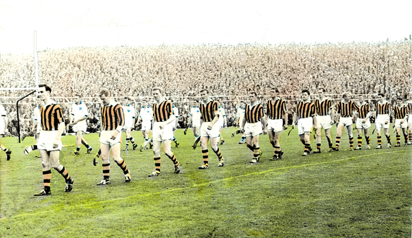 Seamie Cleere leads Kilkenny in the parade before the 1963 All Ireland Final v Waterford