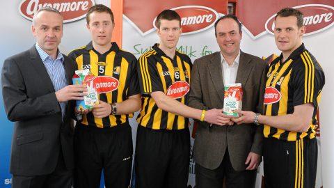 "Glanbia launch its ""Avonmore Milk"" sponsorship of Kilkenny Hurlers for 2011"