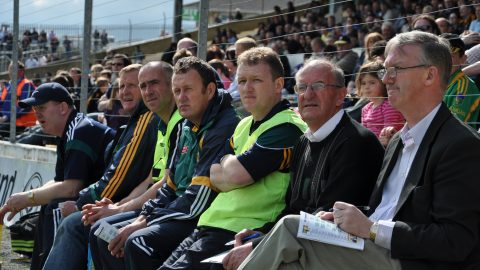 Mentors, substitues and fourth officials change sides in Nowlan Park