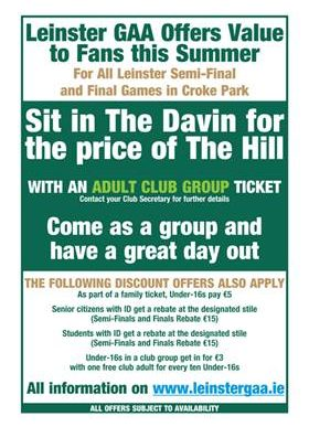 Tickets for Leinster Hurling Final
