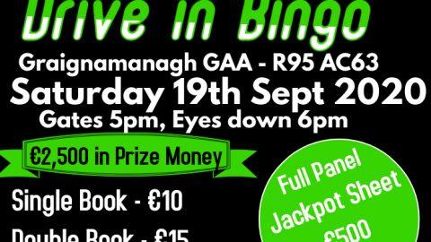 Graignamanagh GAA Club will host 'Drive in Bingo'