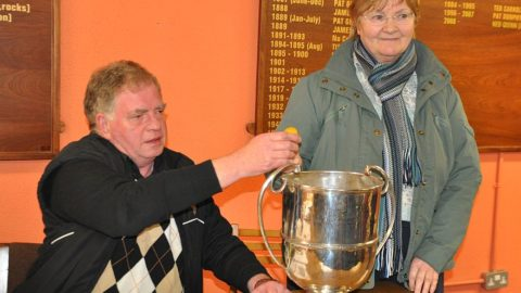 Teasie Brennan makes the St. Canices Credit Union Senior Hurling Championship Draws in Nowlan Park.
