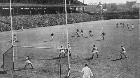 Panoramic view of the action in the 1950 All Ireland SH Final in which Tipp beat Kilkenny.