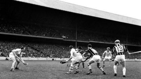 Action from the 1964 Leinster SH Final - Kilkenny v Dublin. Kilkenny players - John Teehan and Tom Walsh.