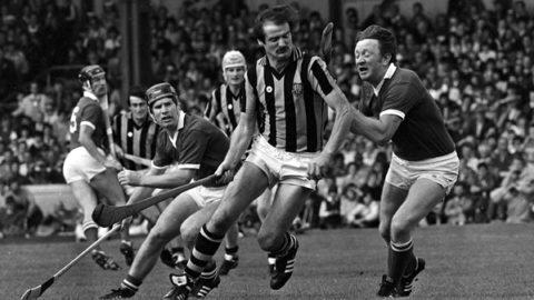2 September 1983; Kilkenny's Billy Fitzpatrick in action against Cork's John Crowley. Kilkenny v Cork, All-Ireland Hurling Final, Croke Park. Picture credit; Ray McManus/SPORTSFILE