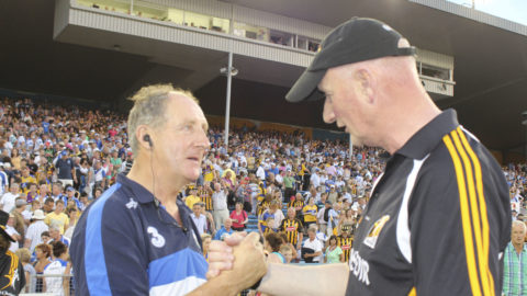 Michael Ryan [Waterford] and Brian Cody [Kilkenny] Managers
