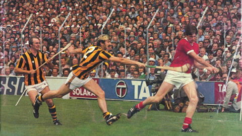 1983 All Ireland SH Final From left - Joe Hennessy, John Henderson and Eamon O'Donoghue. (Tom Brett)
