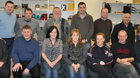 Some of the club Officers from Slieverue, Clara, Rower Inistioge, Thomastown, Dunnamaggin, Barrow Rangers and James Stephens at the Registration Training night in Kilkenny Education Centre