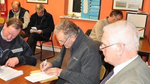 Junior, Senior and Intermediate club Delegates study their respective Groups