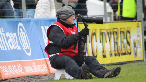 Willie Dempsey in his photographer role in Nowlan Park on Sunday