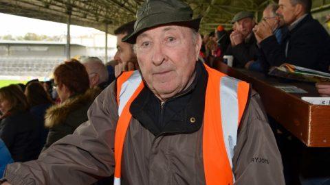 Stewarding in Nowlan Park on his 83rd Birthday