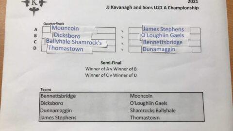 U-19 and U-21 Championship Draws